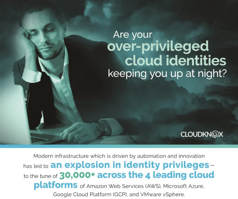 CloudKnox Cloud Security Platform Infographic